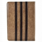 Trilinear Pattern Protective PU Leather Case Cover Stand w/ Card Slot for Ipad AIR - Brown + Khaki