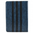 Trilinear Pattern Protective PU Leather Case Stand w/ Card Slot for Ipad AIR - Dark Blue + Khaki