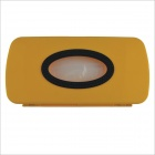 ABS Hang up Car Tissue Paper Holder Box Case - Yellow + Black