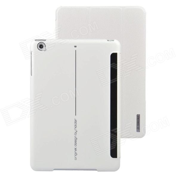Angibabe 3-Fold Protective PU Leather Case Cover Stand w/ Auto Sleep for Retina Ipad MINI - White новая вода к687
