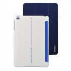 Angibabe 3-Fold PU Leather Case Cover Stand w/ Auto Sleep for Retina Ipad MINI - Sapphire Blue