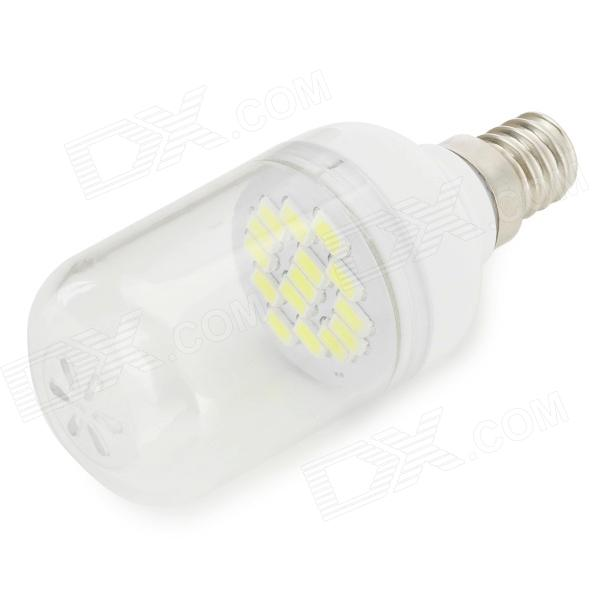 SENCART E12 1.8W 110lm 6000K 15-SMD 5730 LED White Light Bulb (220~240V)