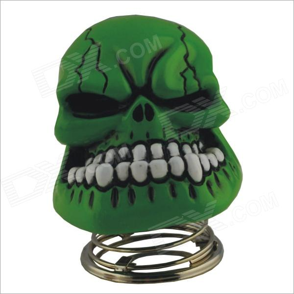 DIY Car Decoration Spring Skull - White + Green