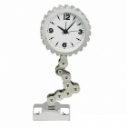 Decorative Display Toy Alarm Clock - Silver White + Silver