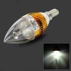 HESION HS01003 E14 3W 270lm 6000K 3-LED White Light Candle Lamp (AC 85~265V)