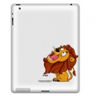 PAG Cute Lion Head Pattern Protective Sticker for Ipad 2 / 3 / 4 - Orange + Red
