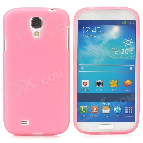 S-What Glow-in-the-Dark Protective TPU Back Case for Samsung Galaxy S4 i9500 - Translucent Deep Pink oliver jeffers what s the opposite