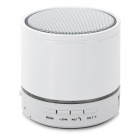 S08 Mini Bluetooth V3.0 Speaker w/ FM Radio / Mic / TF Slot - White + Black