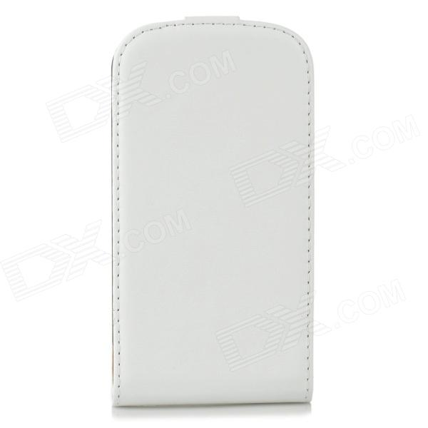 A-336 Protective Sheepskin Flip-Open Case for Samsung Galaxy Express i8730 - White protective frosted abs back case for samsung galaxy express i8730 white