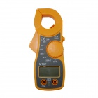 BZMT87 3.5 x 2cm LCD Small Digital Clamp Amperemeter - Yellow (2 x AAA)