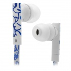 SONUN SN-A03 Fashion Lines 3.5mm In-Ear Earphone - Blue + White