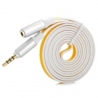 3.5mm Male to Female Audio Extension Cable - Yellow + White (120cm)