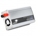 1200W Car DC 12V to AC 220V Power Inverter - Red + Silver + Black