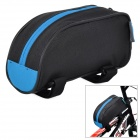 ROSWHEEL 12654 Stylish Bicycle Front Tube Bag - Black + Blue