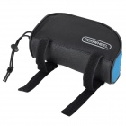 ROSWHEEL 12654-B Stylish Bicycle Front Tube Bag - Black + Blue