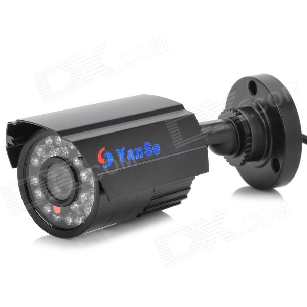 YanSe YS-6624CDB 1/4 CMOS IR-CUT 800TVL Waterproof Camera w/ 24-IR LED