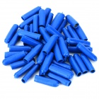 Plastic + Brass Female Wire Cable Terminals - Deep Blue (50 PCS)