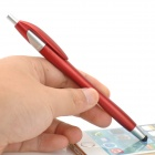 2-in-1 Stylish Capacitive Touch Screen Stylus Pen + Ballpoint Pen for Cell Phone - Red + Silver