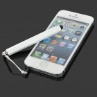 Capacitive Touch Screen Stylus Pen w/ Anti-Dust Plug for Smartphone - White