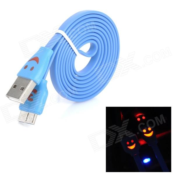 Flashing Smile Micro 9-Pin Male to USB 3.0 Male Charging Data Cable for Samsung N9000 - Deep Blue постельное белье адель шоколад евро