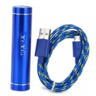 "5V ""3300mAh"" Micro USB Li-ion Battery Emergency Charging Battery w/ Cable - Blue + Yellow"