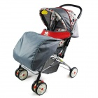 Universal 300D Cloth Cotton Footmuff for Baby's Stroller - Red + Grey