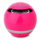 BL-25 Mini Portable Bluetooth Speaker w/ FM / TF / HF Call - Deep Pink + Silver