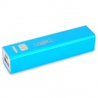 "IKKI 5V ""3300mAh"" Li-ion Battery Emergency Charging Battery w/ Cable for Samsung - Sky Blue + Black"