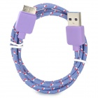 USB Male to Micro USB Male Charging Data Cable for Samsung Galaxy Note 3 - Purple (200 cm)