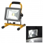 20W 230LM 6500K White Light LED Floodlight Lamp - Black + Orange (7.4~8.4V)