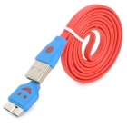 USB 3.0 to Micro USB 3.0 Type B Male Data / Charging Cable for Samsung N0te 3 / 9000 - Red (100cm)