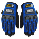 Madbike Motorcycle Cycling Gloves for Touch Screen - Black + Blue (Size L / Pair)