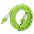 RH--HDMI V1.4 HDMI Male to Male Connection Cable - White + Light Green (150cm)