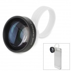 iQ-T50 Detachable Clip 5X Macro Lens for iPhone + Samsung + More - Black