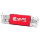 Taou kk USB 2.0 + Micro USB OTG USB Flash Drive - Red + Silver (16 GB)