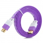 HDMI V1.4 HDMI Male to Male Connection Cable - White + Purple (150cm)