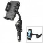 12V Cigarette Lighter Power with 2 USB Ports Holder for Smart Phone - Black - Car GPS Car Accessories