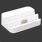 Convenient Charging & Data Sync Station w/ 3.5mm Jack Line Out for Samsung Note 3 - White