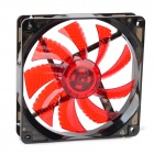 Aigo X7 ABS 1-Blade Fan w/ Red Light LED - Black + Red