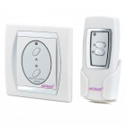 2 Port Digital Wireless Remote Control Wall Switch - White + Silver