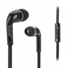 Yoosaa In Ear Flat Cable Earphone w/ Microphone - Black (115cm)