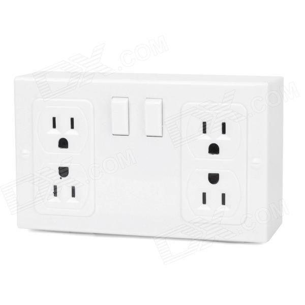 US Plugs Socket Style Plastic Safe - White