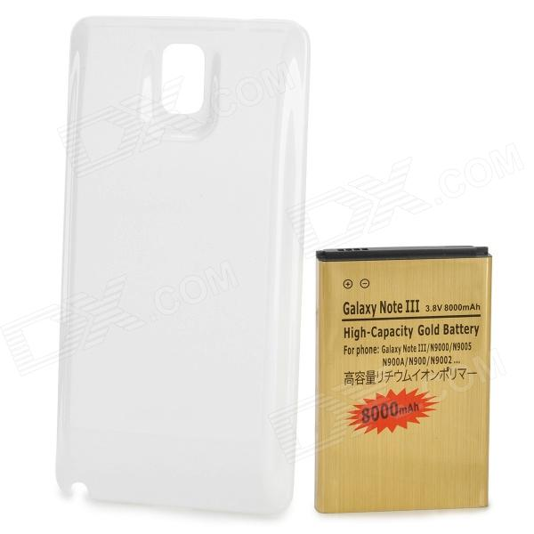6800mAh 3.8V Replacement Battery w/ Matte Cover for Samsung N9006 / N9002 / N9000 - Golden pisen mobile phone replacement 3200mah battery for samsung galaxy note 3 n9002 9006 9008 9009