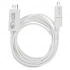 Universal 1080p HD MHL Micro USB 5Pin / 11Pin to HDMI Cable - White (300 cm)