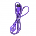 10A 250V 3-Flat-Pin Plug AC Power Cable - Purple (140cm)
