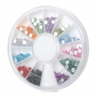 12-Color Nail Art Acrylic Artificial Diamond Kit - Multicolor