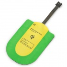 Universal Qi Micro USB Wireless Charger Receiver - Green + Yellow