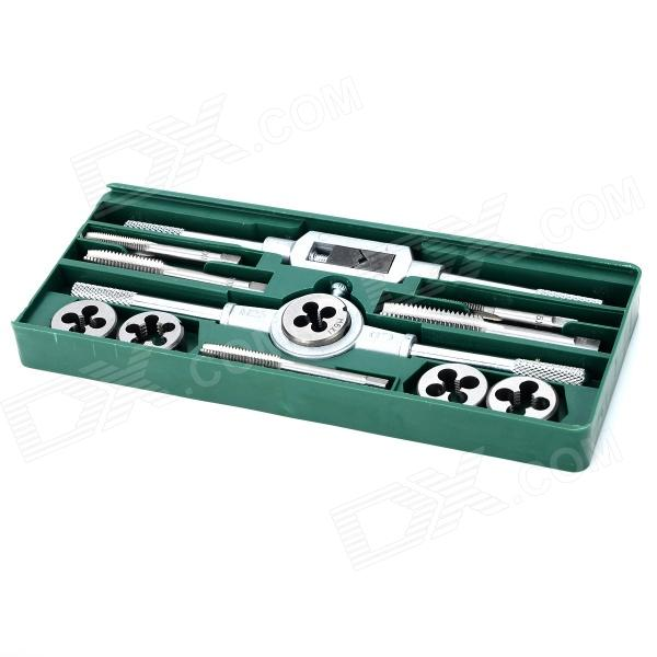stainless steel metric tap die tool set silver
