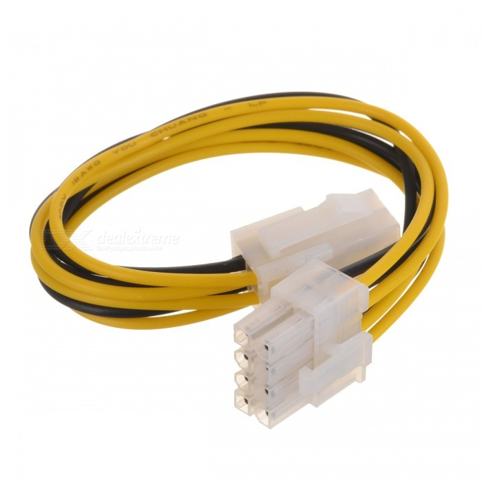 4Pin to 8Pin Graphics Card Power Cable - White + Black + Multicolored (18cm)