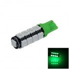 T10 / 194/2521 / W5W 2W 180lm 17 x SMD 5050 LED Green Car Abstand Lampe / Seiten Light - (12V)